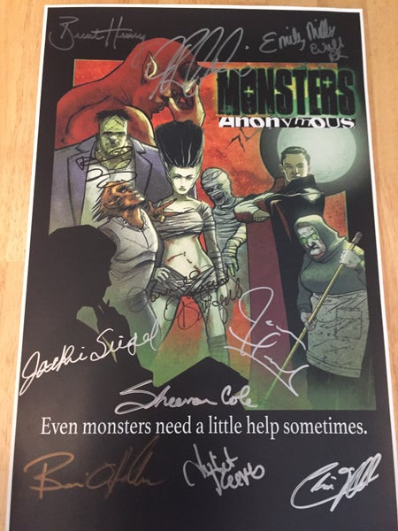 "Image of 11"" x 17"" Signed Monsters Anonymous Poster *Limited Quantity* Shipping included in price."