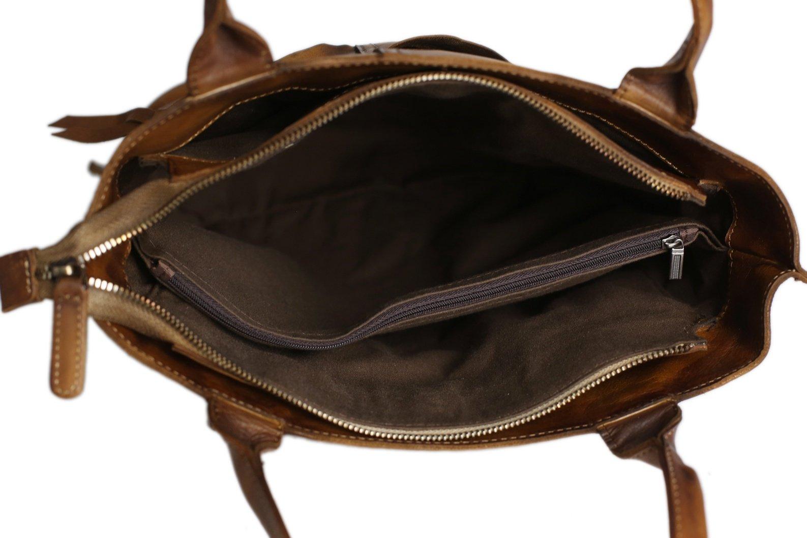 Vintage Brown Leather Tote Bag Women S Designer Handbags Dd103