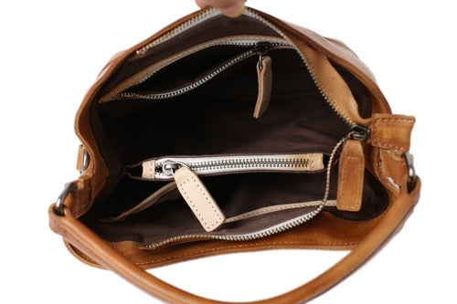 Image of Handmade Full Grain Leather Hobo Bag, Women Designer Handbags, Tote Bag WF82