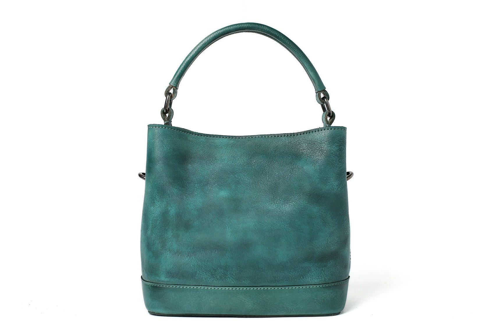 Image Of Handmade Full Grain Leather Hobo Bag Women Designer Handbags Tote Wf82