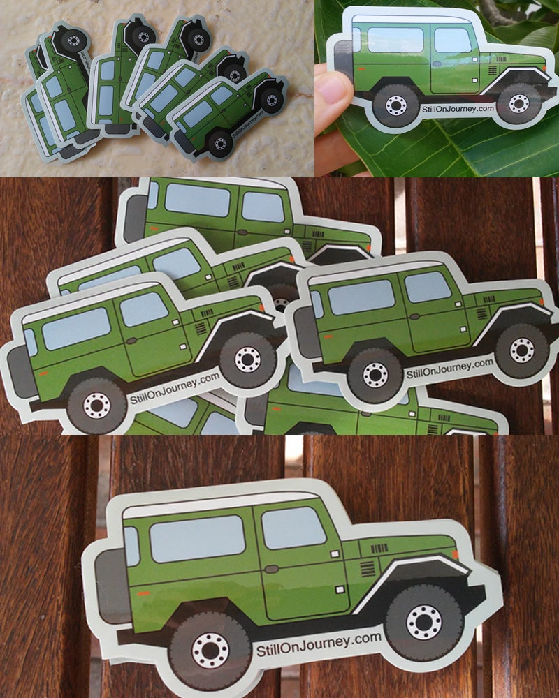 Image of Ltd Edition Ptrmc Toyota Land Cruiser FJ40 Sticker