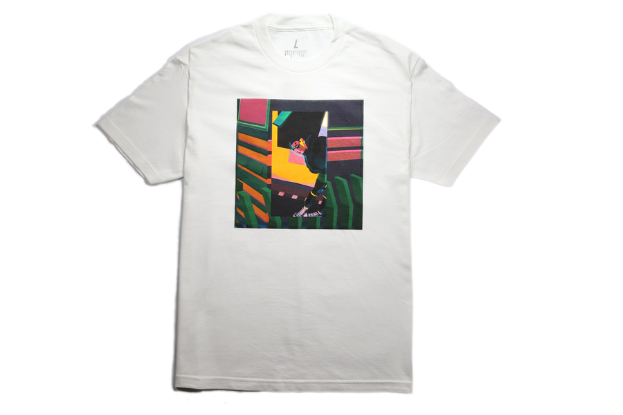 "Image of White ""W(EYE) by Ru AREYOU"" T-shirt"