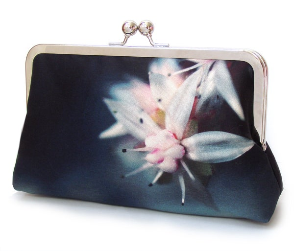 Image of Starflower silk clutch bag