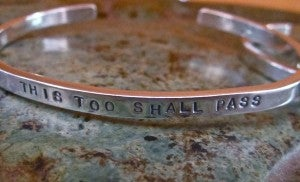 "Image of ""This Too Shall Pass"" Sterling Bracelet"