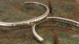 "Image of ""Girlfriends ~ Thru Thick & Thin"" Sterling Bracelet"