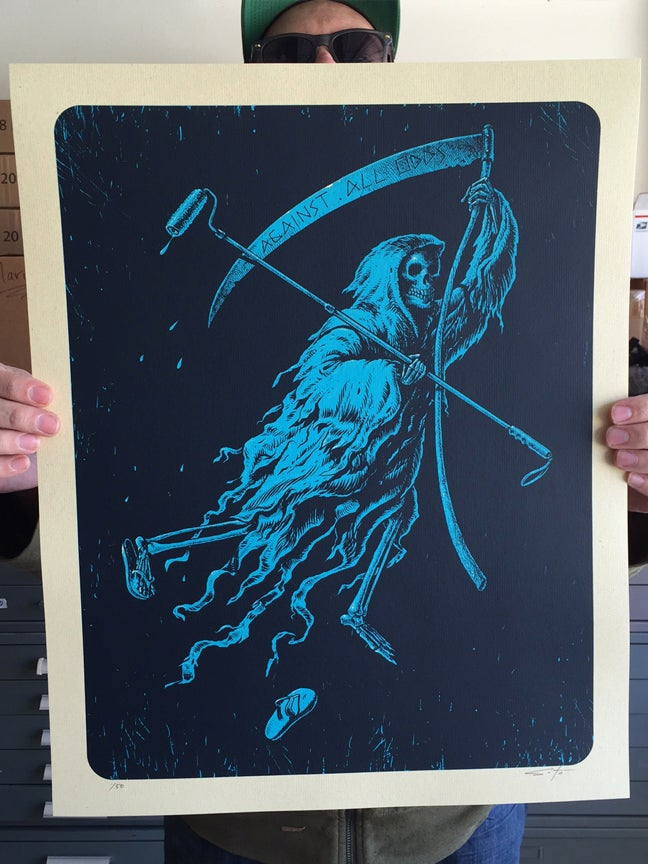 Image of Against All Odds Blue Colorway Print
