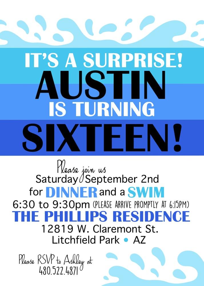 Image of 16th Birthday Invitation