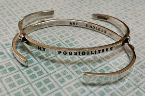 "Image of ""My Possibilities ~ Are Endless"" Sterling Bracelet"