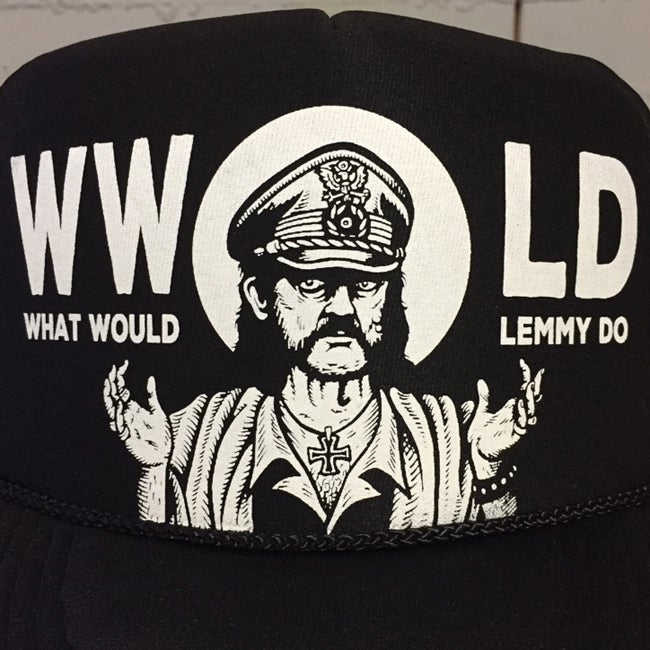 Image of What Would Lemmy Do Screened on Mesh back Otto cap