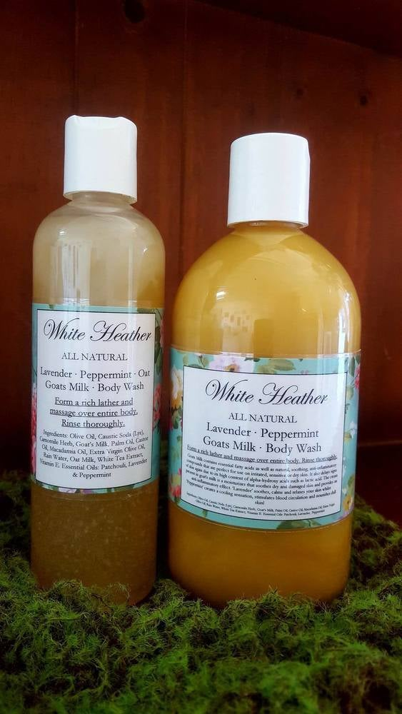 Image of Lavender & Peppermint Goats Milk Body Wash