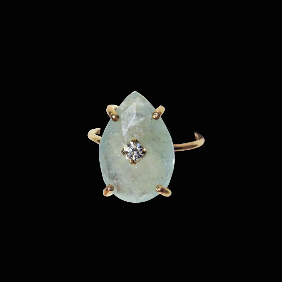 Image of Aquamarine Drop Ring