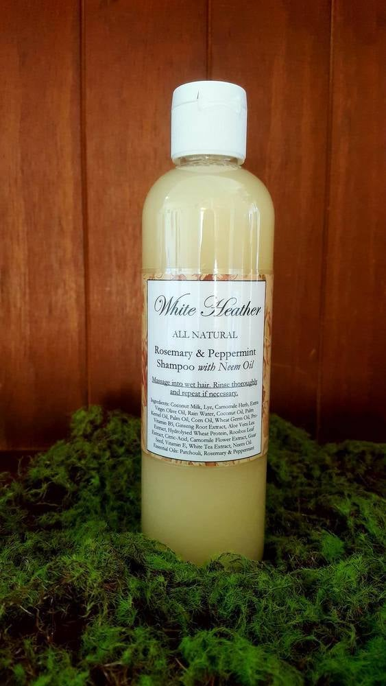 Image of Rosemary & Peppermint Shampoo with Neem Oil