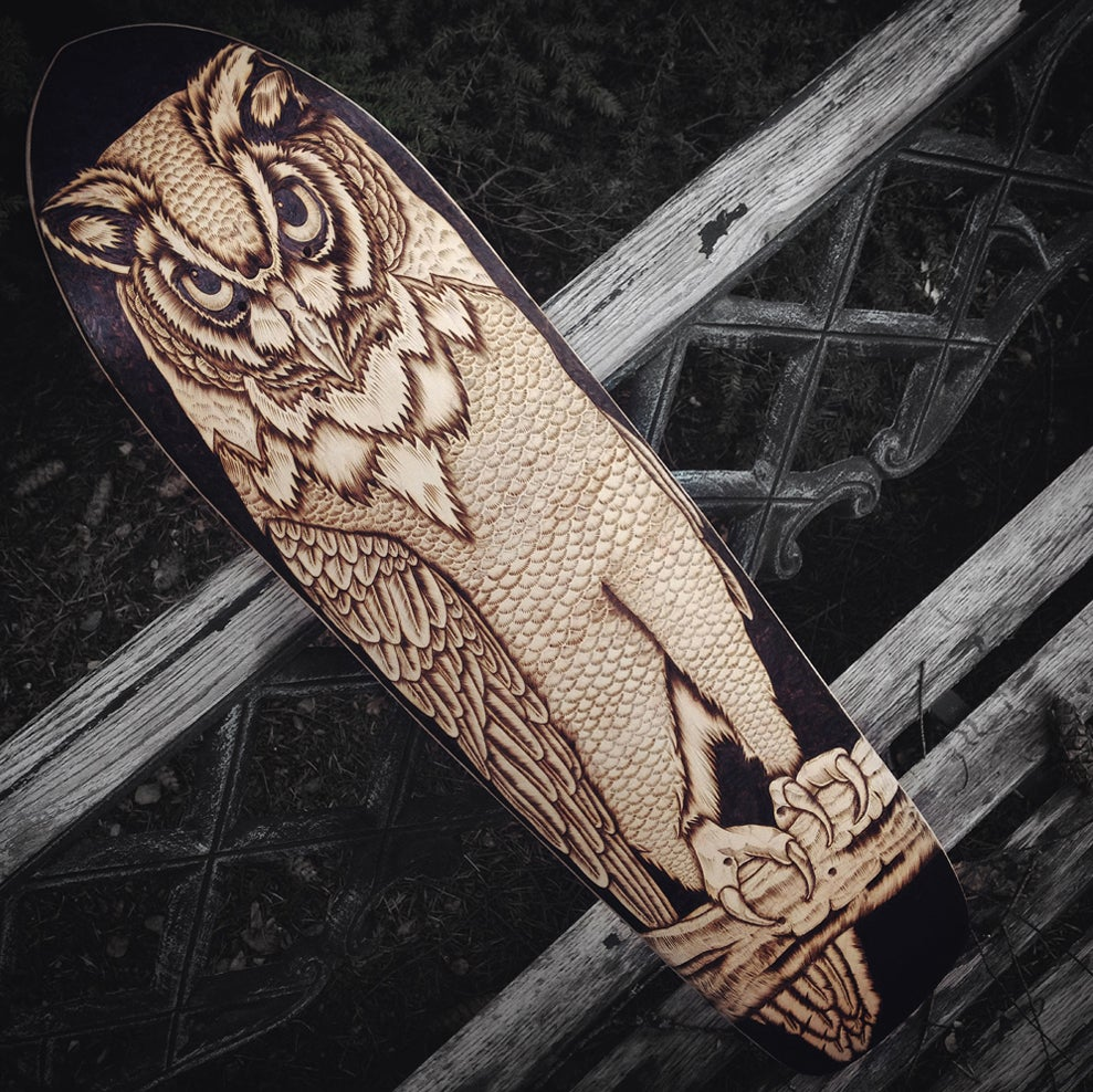 Image of Owl Skateboard