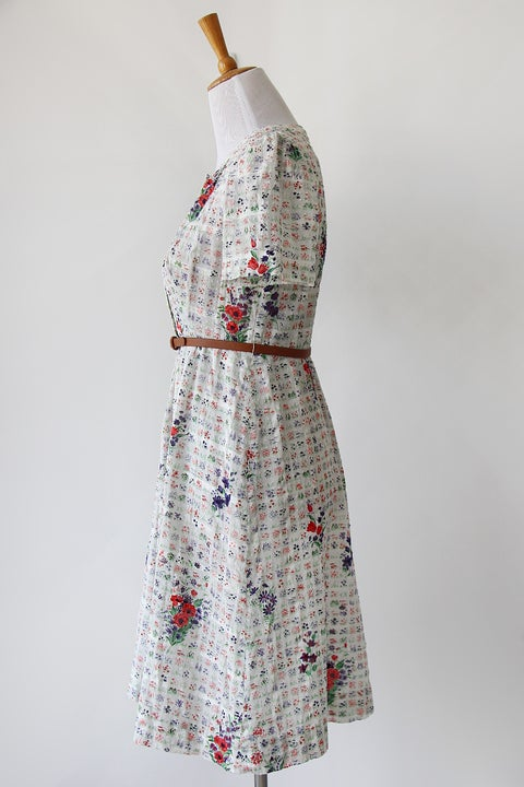 Image of SOLD Fauna Swiss Dot Dress