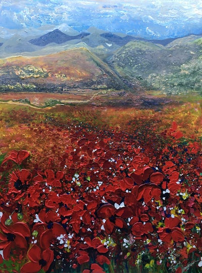 Image of 'Poppy Fields Forever' – Original Canvas (Acrylic)