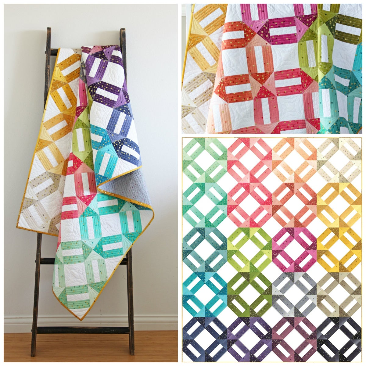 V And Co Ombre Weave Ombre Fabric Quilt Pdf Pattern
