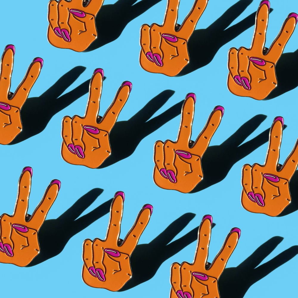 Image of Peace Out Enamel Pin