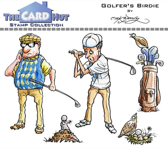 Image of Golfer's Birdie - Stamp Set