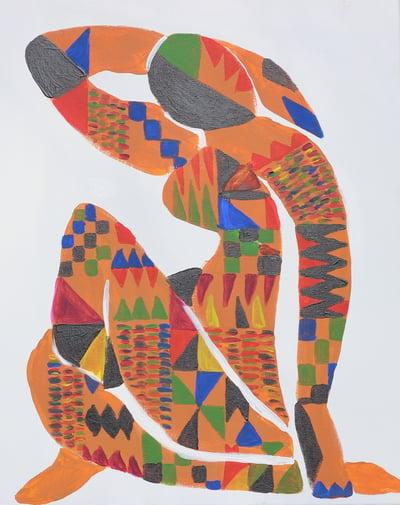 Image of Black Nude 12x18 Print