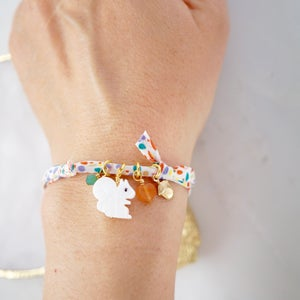 Image of Mother of pearl squirrel and acorn bracelet