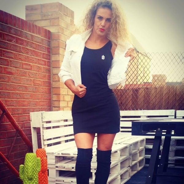 Image of LADIES TANK DRESS • BLACK