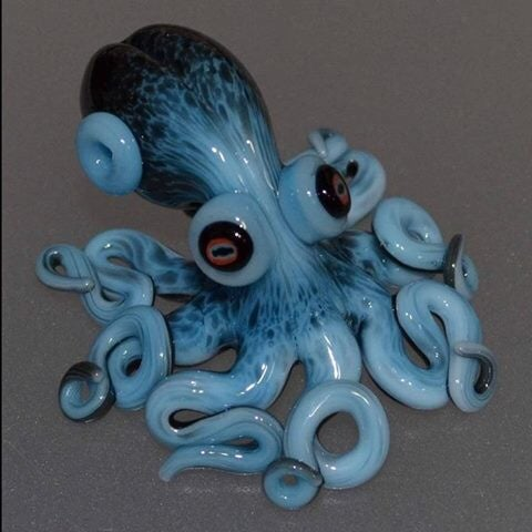 Image of Lampwork glass Octopus pendant in your choice of color