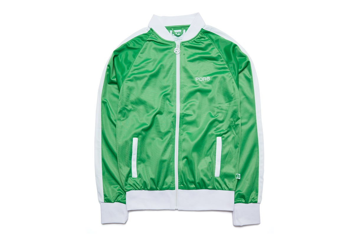 Lazy Bird Track Top in Classic Green
