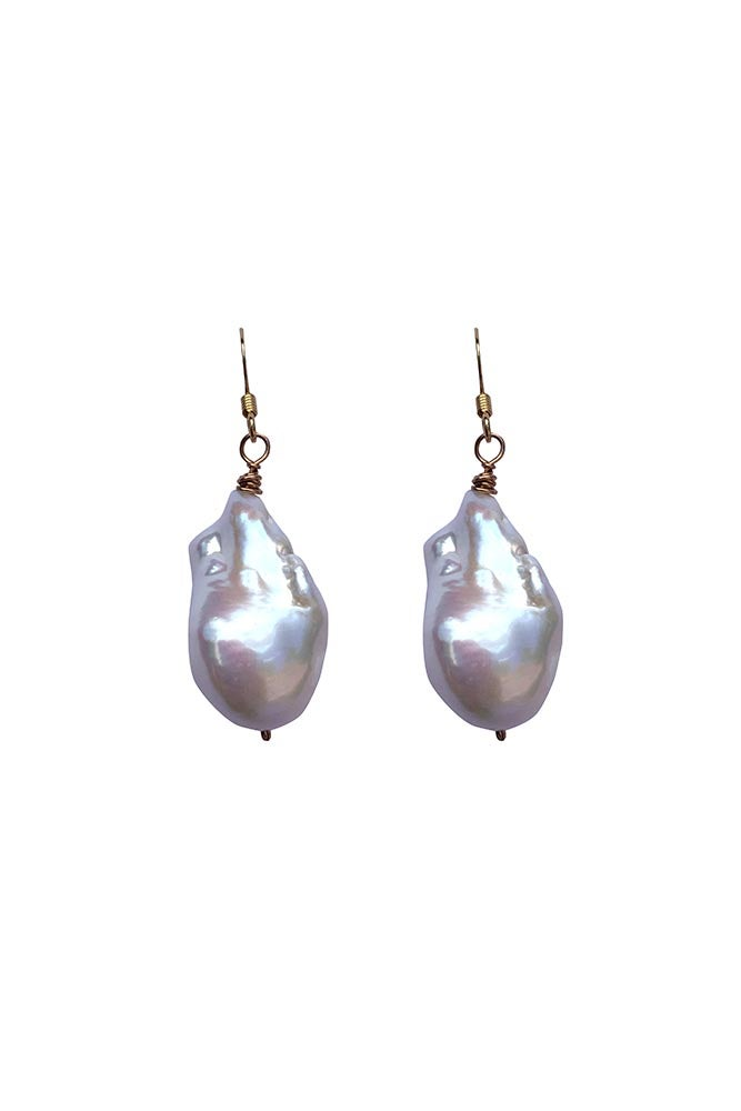 Image of Simple Baroque Drop Earrings