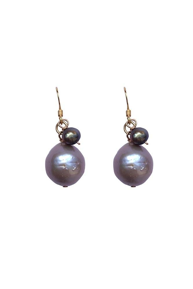 Image of Simple Pearl Drop Earrings