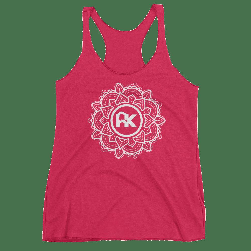 Image of Women's Mandala Logo Tank - Pink/White