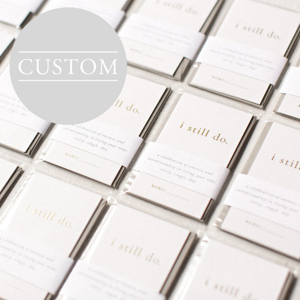Image of <i>CUSTOM</i> Gold Foil I Still Do Wallet Cards