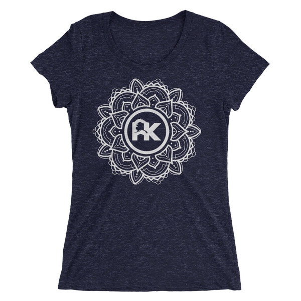 Image of Women's Mandala Logo Tee - Navy/White