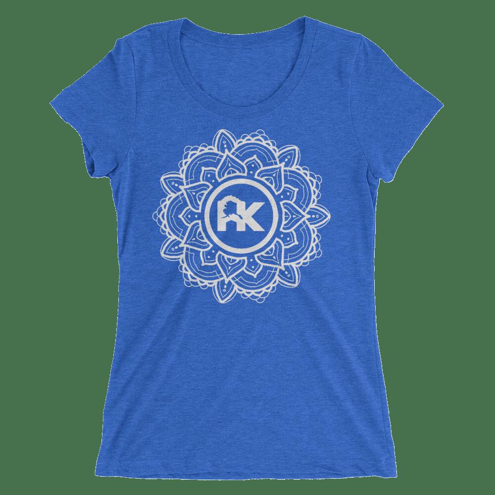 Image of Women's Mandala Logo Tee - Blue/White