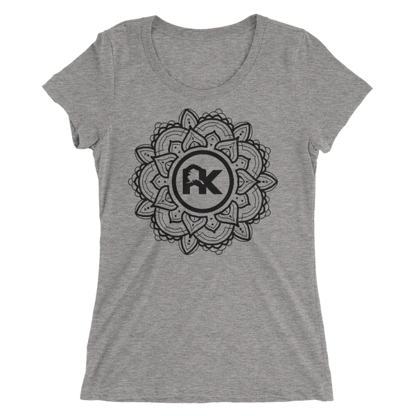 Image of Women's Mandala Logo Tee - Gray/Black