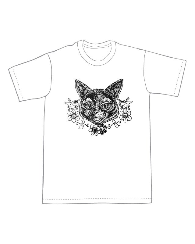 Image of Mardi the Cat Head T-shirt **FREE SHIPPING**