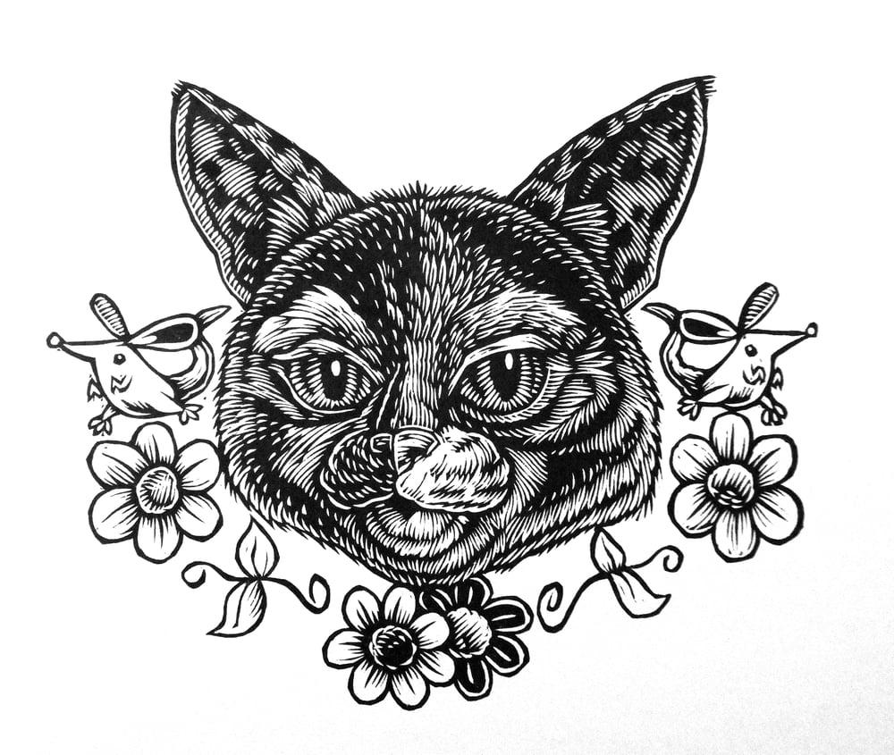 Mardi the Cat Head T-shirt (A3)**FREE SHIPPING**