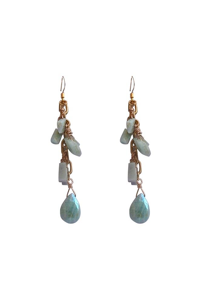 Image of Amazonite Dangle Earrings