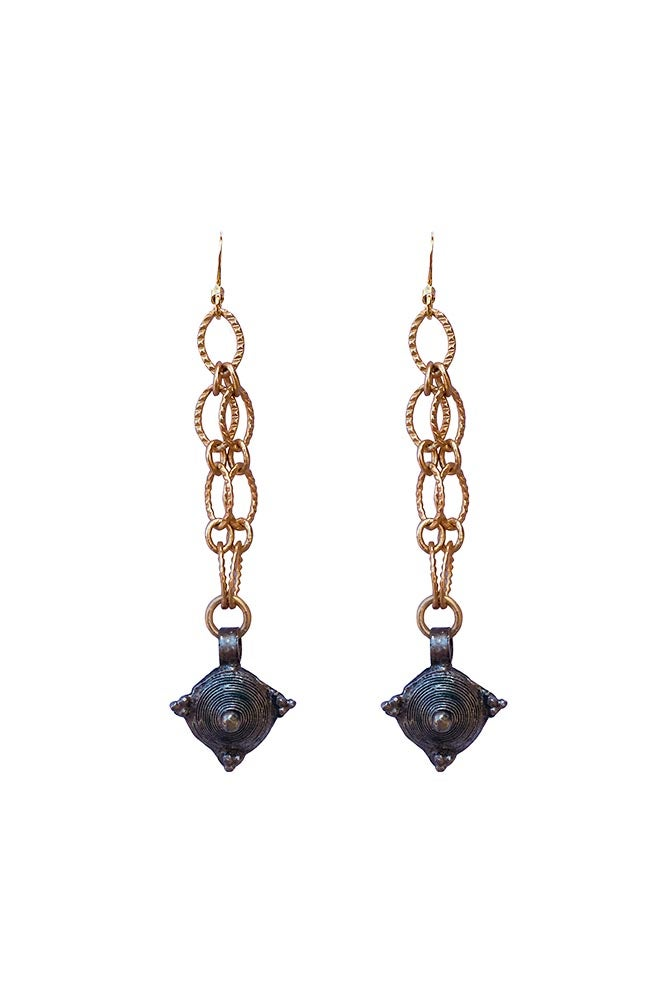 Image of Telsum Prayer Bead Earrings