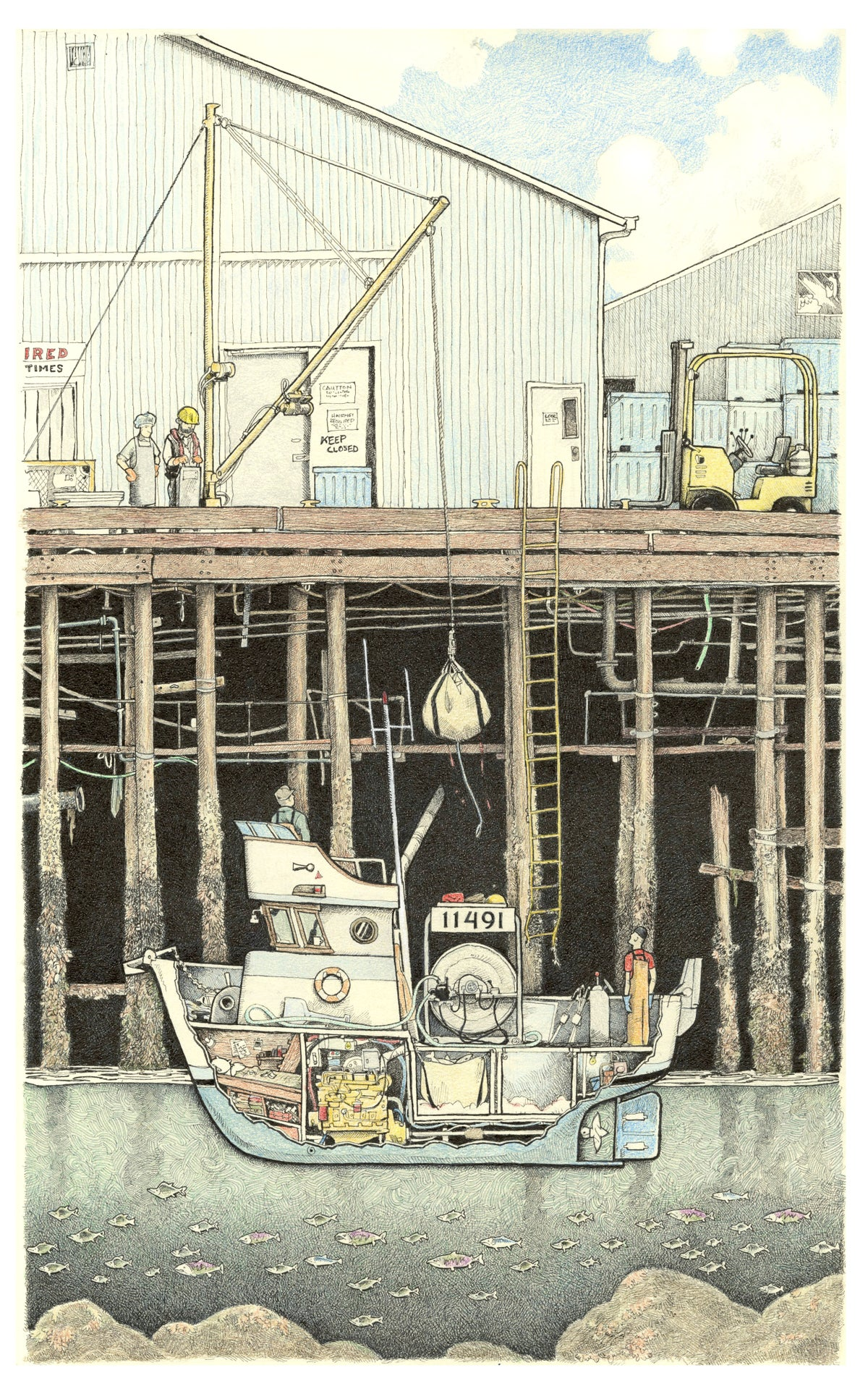 """Image of Cannery Dock No 1 13"""" x 18"""""""