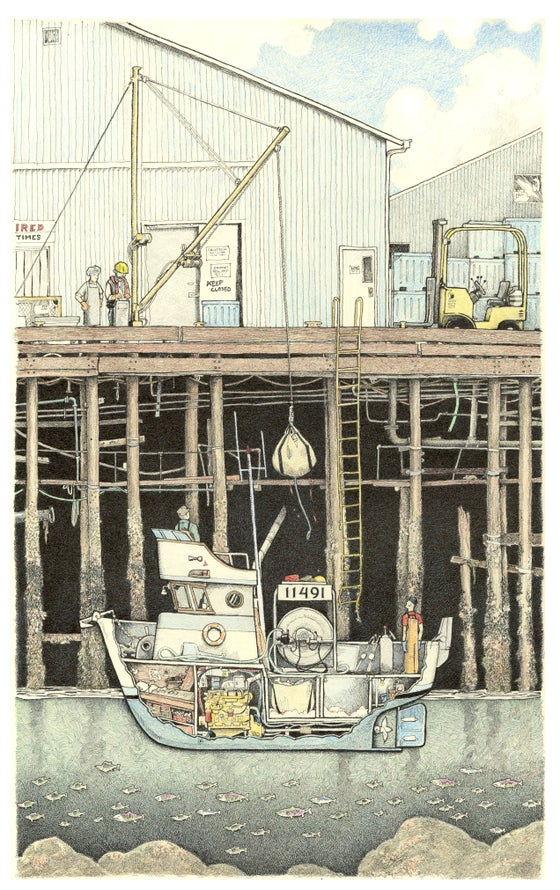 "Image of Cannery Dock No 1 13"" x 18"""