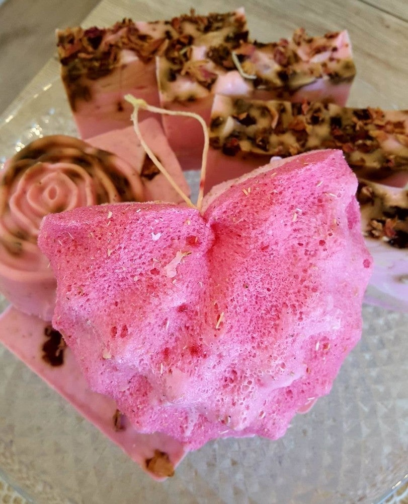 Image of Rose Soap Sponge