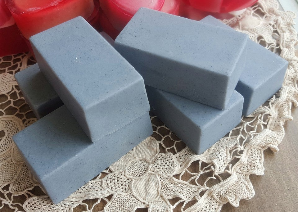 Image of Peppermint & Eucalyptus Goats Milk Soap with Activated Charcoal