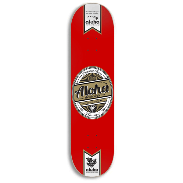 Image of Aloha Skateboards Premium Brew Deck - RED