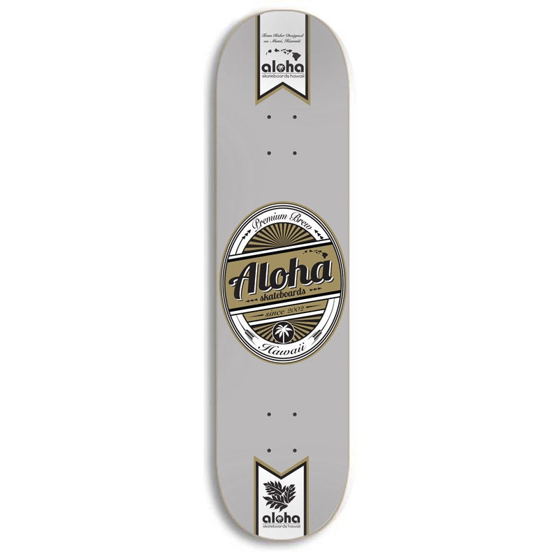 Image of Aloha Skateboards Premium Brew Deck - GRAY