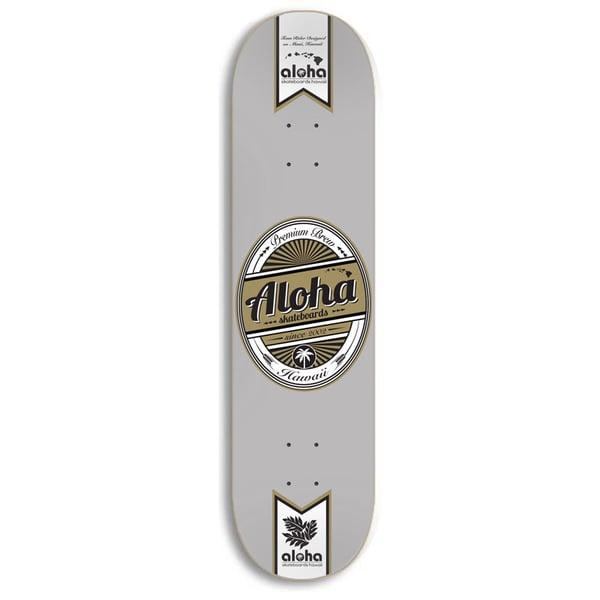 Image of Aloha Skateboards Premium Brew Deck - GRAY