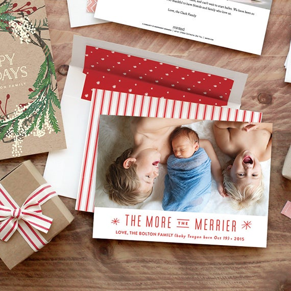 Image of Add on - Custom Holiday Cards - Set of 25
