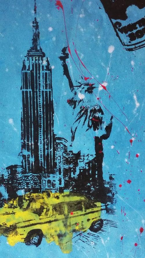 "Image of ""Empire State Building."" Original Silkscreen."
