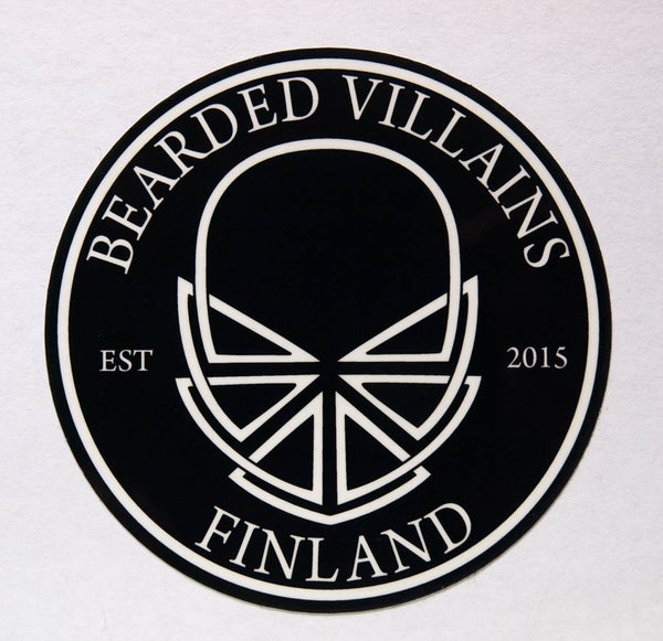 Image of Bearded Villains Finland sticker (diameter 80mm) 1 pc.