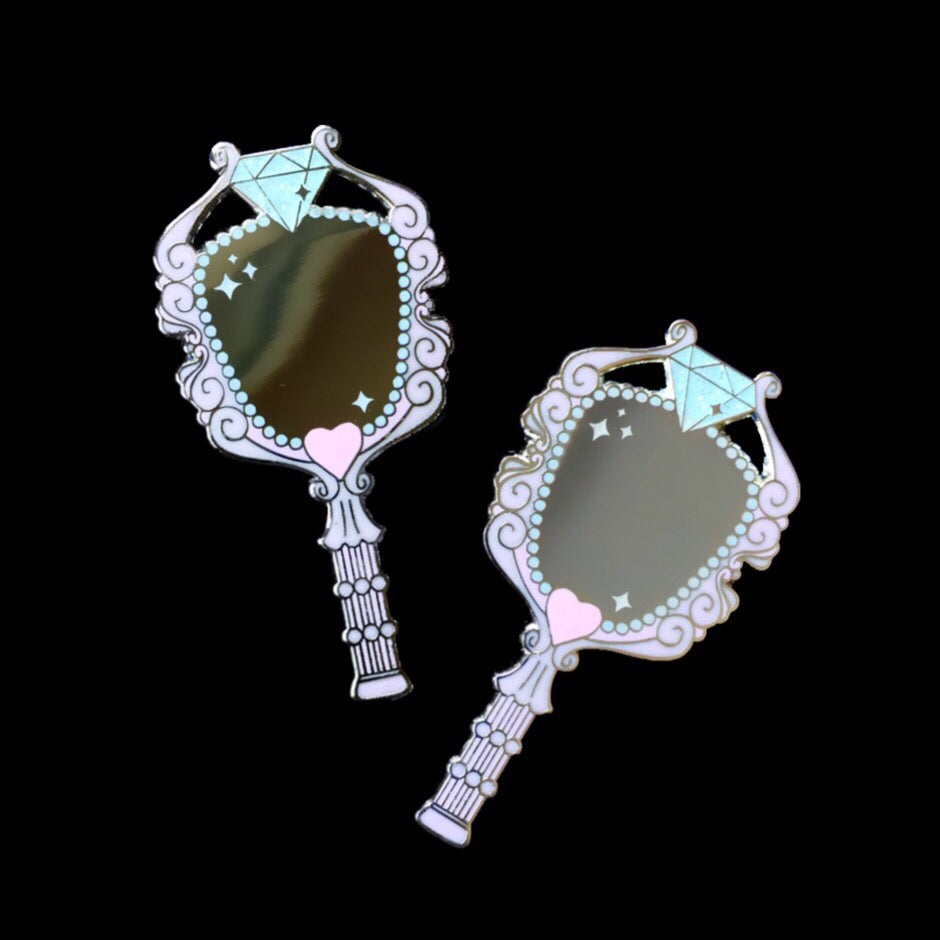 Image of Vintage Mirrors (pink)