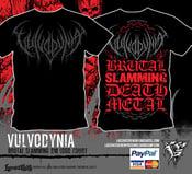 Image of VULVODYNIA - Brutal Slamming DM logo Tshirt